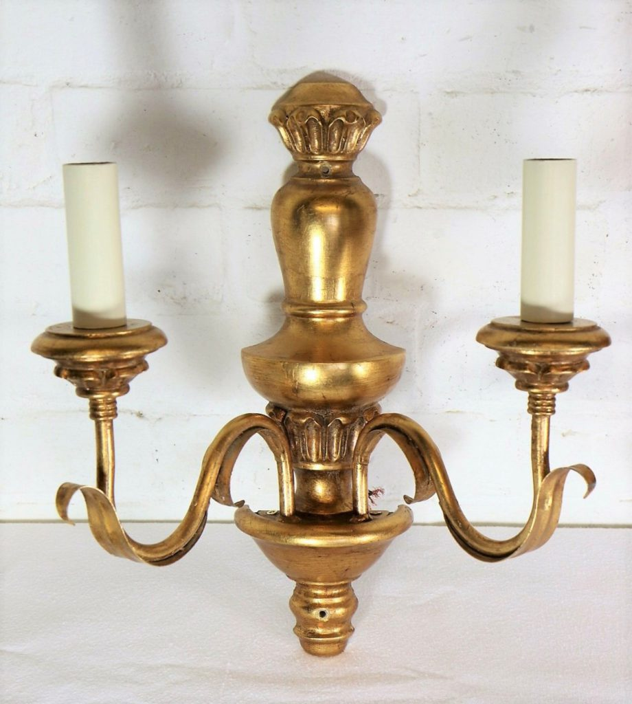 Gilt Double Wall Light