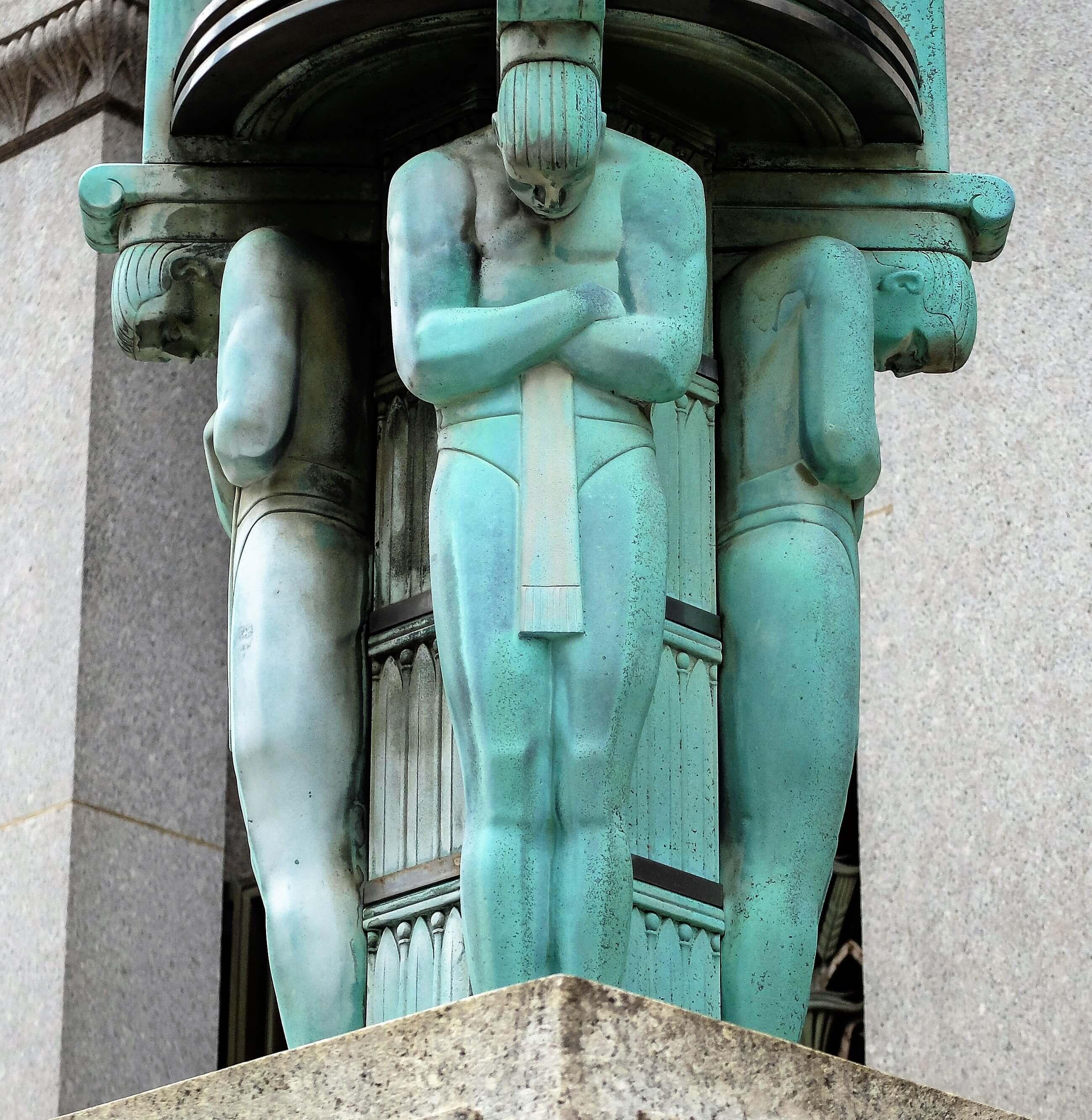 Art Deco lamp column NYC