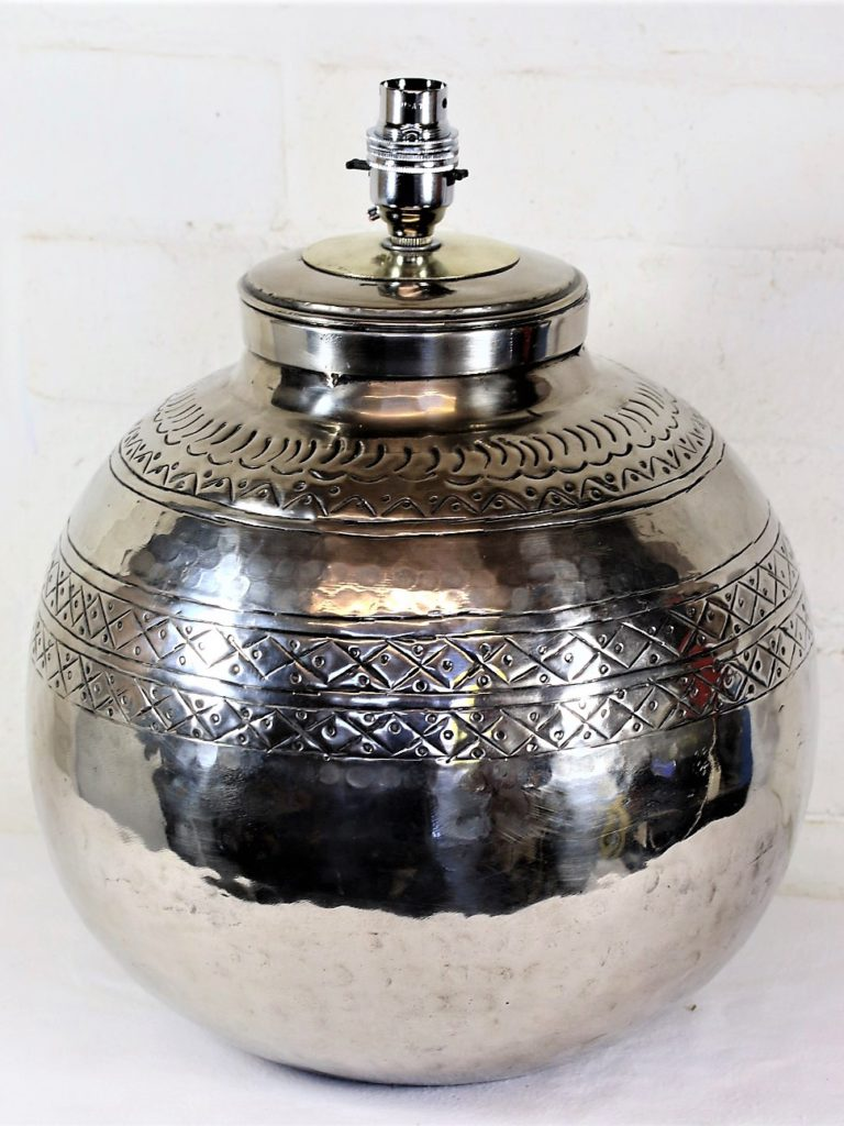 Hammered Metal Table Lamps – The Joy of Ethnic Table Lamps