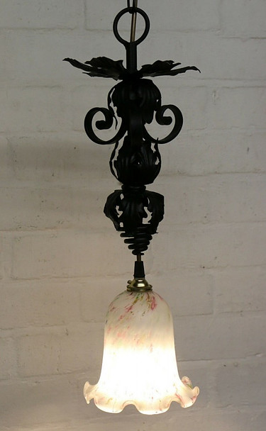 Antique French Iron Ceiling Light