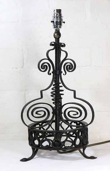 Antique French Wrought Iron Table Lamp