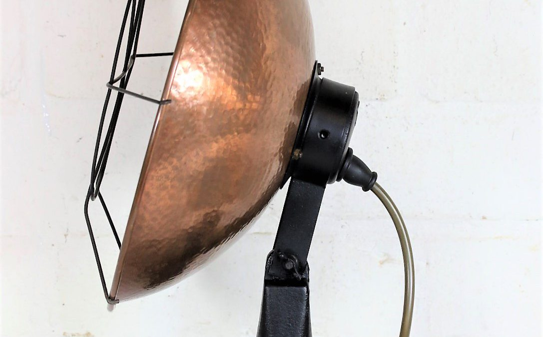 Repurposing an Antique Heat Lamp into a Cool Desk Lamp.