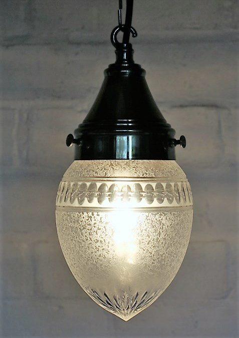 Edwardian Lighting. Restoring a British Antique Cut Glass Traditional Ceiling Light.