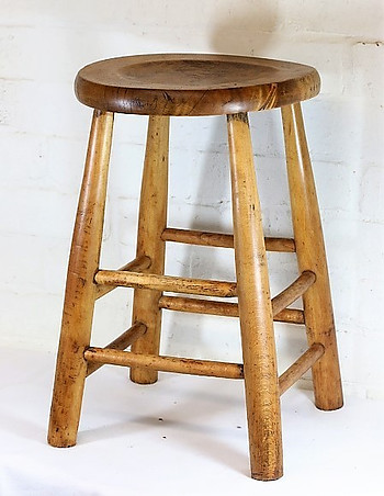 Restoring a beautiful Antique Wooden Stool – A well used Antique Farmhouse Stool.