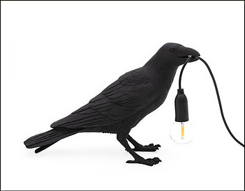 The Bird Waiting Table lamp - Still raven by Seletti