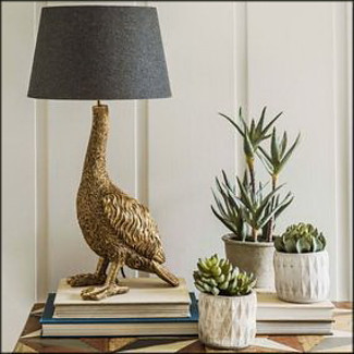 The Gertrude Golden Goose Table Lamp by Graham & Green.