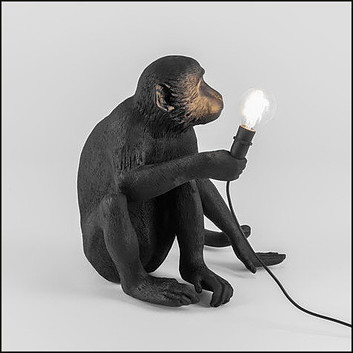 The Monkey Sitting Table lamp by Seletti