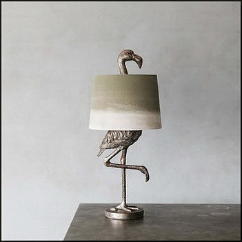 The Silver Flamingo Table Lamp by Graham & Green