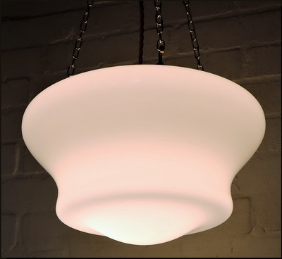 Antique Milk Glass Ceiling Light