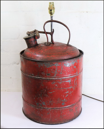 Vintage Petrol can Table Lamp