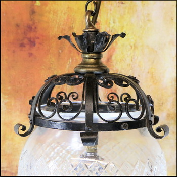 Restoring Antique Victorian Ceiling Light Fixtures.