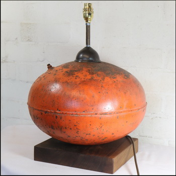 Nautical Theme Table Lamp – Upcycling A Vintage Coastal Buoy