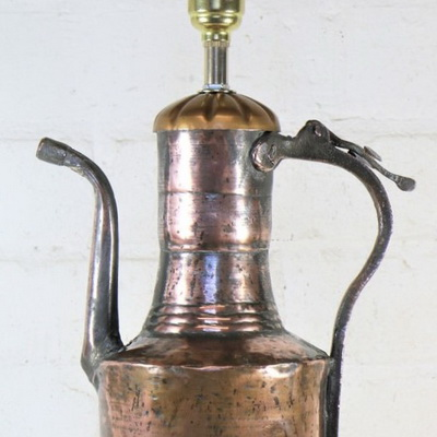 Ethnic Table Lamps. Upcycling a Dallah Coffee Pot.