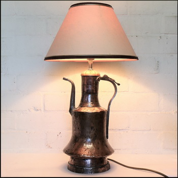 The finished lamp.
